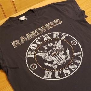Madeworn Ramones Rocket to Russia Band Tour Tee, S